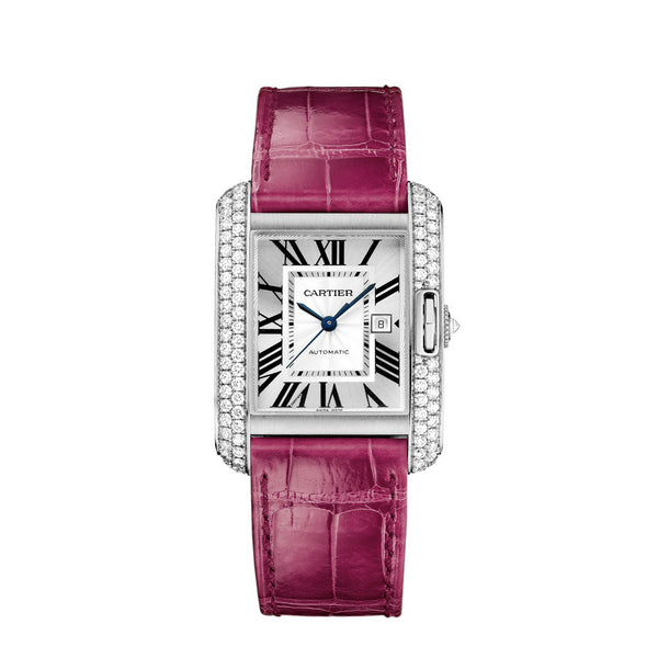 Cartier Tank Anglaise watch, large model WT100018