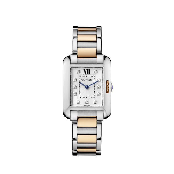 Cartier Tank Anglaise watch, small model WT100024