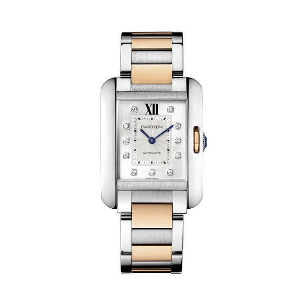 Cartier Tank Anglaise watch, large model WT100025