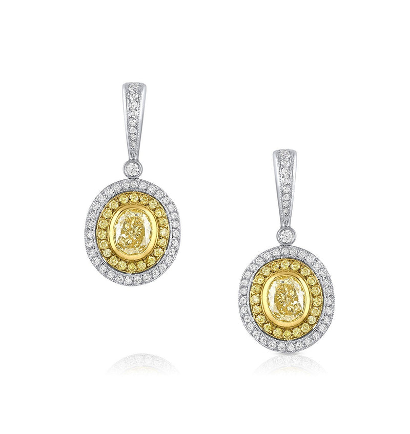 """Michael Beaudry"" Fancy Yellow Drop Earrings, GIA"
