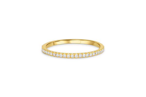 18KT Yellow Gold Diamond Halfway Band
