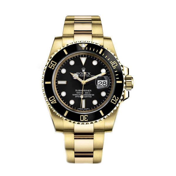 Rolex 18K Yellow Gold Submariner 40MM - Pre-Owned