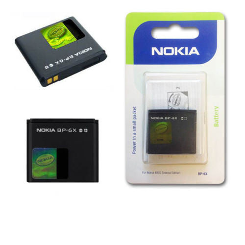Nokia Batteria Originale NOKIA BP-6X Li-Ion 700mAh Blister Nokia 8800 Scirocco ! - CellularMania , Apple , Samsung , Linkem , Note 5 , Note 6 , Note 7 , iPhone 7 , iPhone 7 Plus , iPhone 7 Pro , iPad Pro , iPhone SE , S7 , S7 Edge , S7 Duos , S7 Edge Duos
