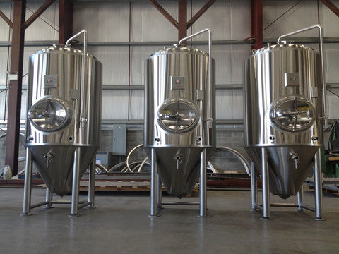 custom 200 bbl fermenters by Marks Design & Metalworks