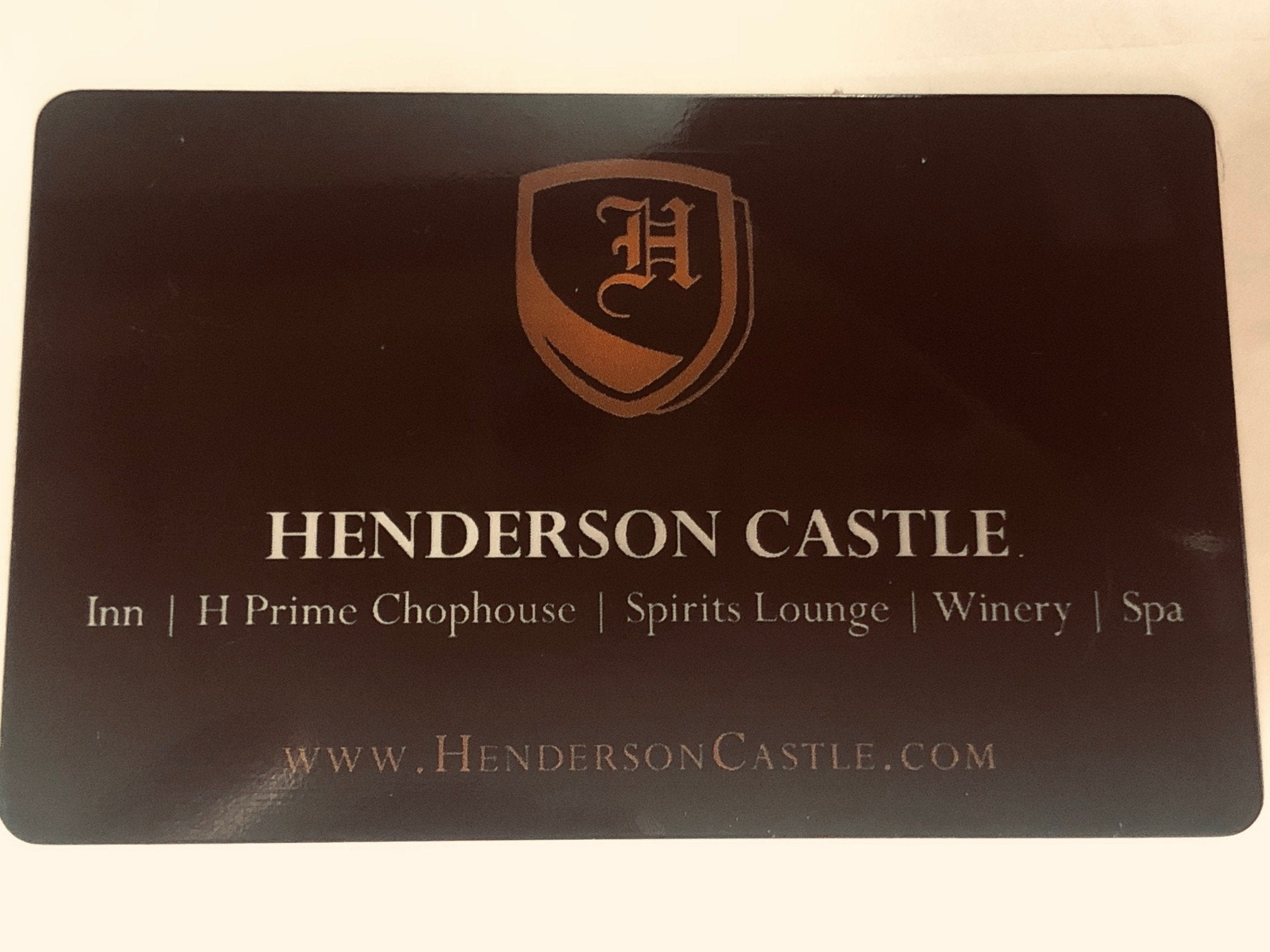 Henderson Castle gift card sale