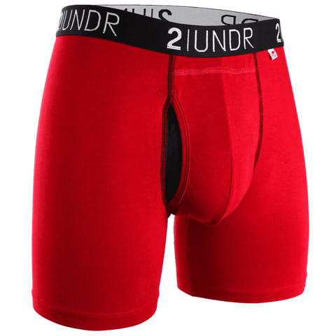 "2UNDR Swing Shift 6"" Boxer Brief - Red/Red"