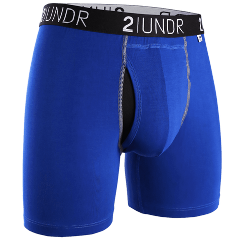 "2UNDR Swing Shift 6"" Boxer Brief - Blue/Blue"