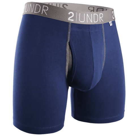 "2UNDR Swing Shift 6"" Boxer Brief - Navy/Grey"