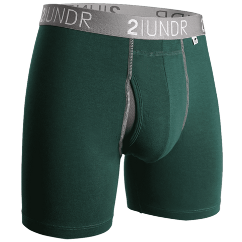 "2UNDR Swing Shift 6"" Boxer Brief - Dark Green"