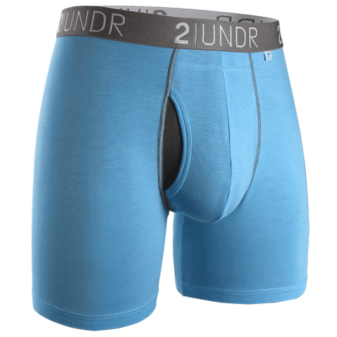 "2UNDR Swing Shift 6"" Boxer Brief- Blue Ribbon"