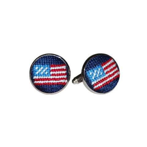 Smathers & Branson American Flag Cuff Links - Navy