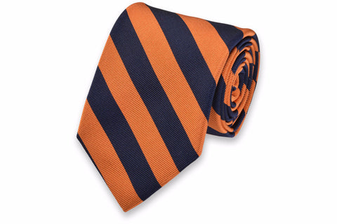 High Cotton All American Orange/Navy Neck Tie
