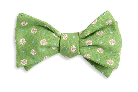 High Cotton Green Avery Bow Tie