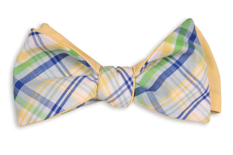 High Cotton Belle Haven Madras Reversible Bow Tie