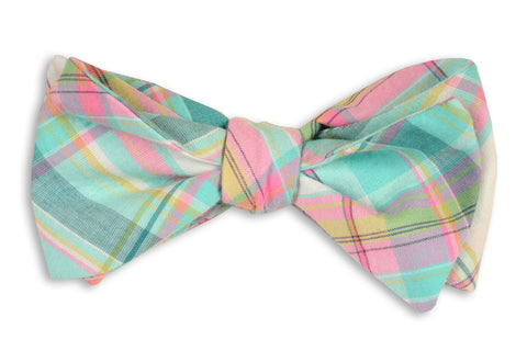 High Cotton Clearwater Madras Bow Tie