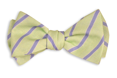 High Cotton Mint and Periwinkle Stripe Bow Tie
