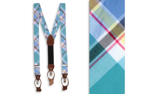 High Cotton Mint Julep Madras Braces