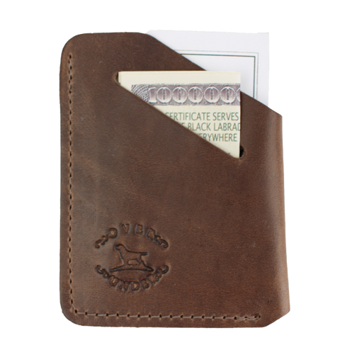 Over Under Horween Minimalist Wallet - Brown