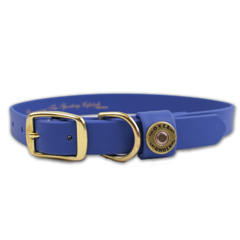 "Over Under Water Dog Collar 17"" - Blue"