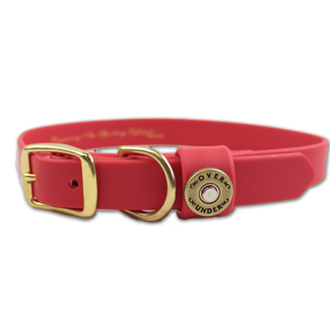 "Over Under Water Dog Collar 17"" - Red"