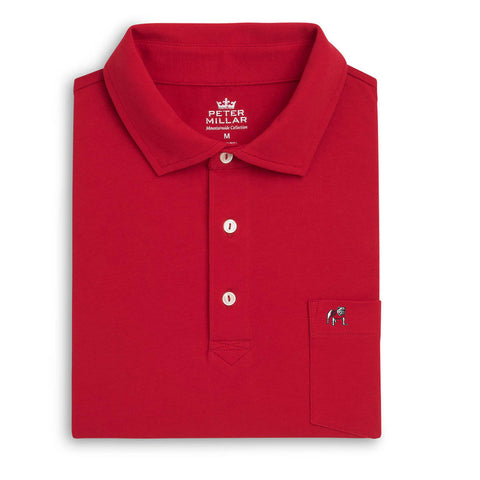 Peter Millar Seaside Wash Polo with Pocket - Georgia