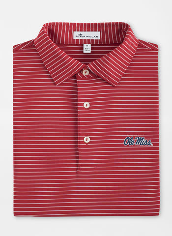 Peter Millar Tuition Stripe Stretch Jersey Polo - Ole Miss