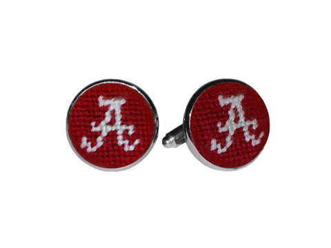Smathers & Branson Alabama Needlepoint Cufflinks
