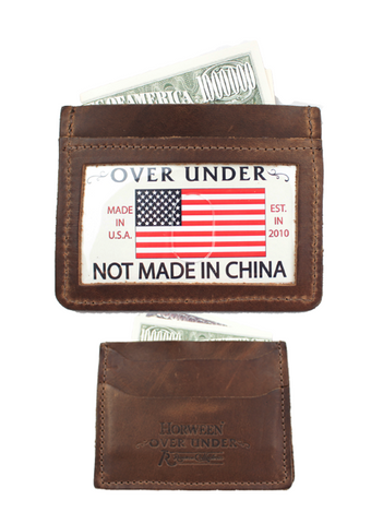 Over Under Horween Simple Card Wallet