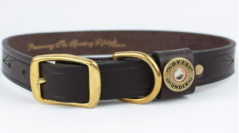 Over Under Finest in the Field Dog Collar - Brown
