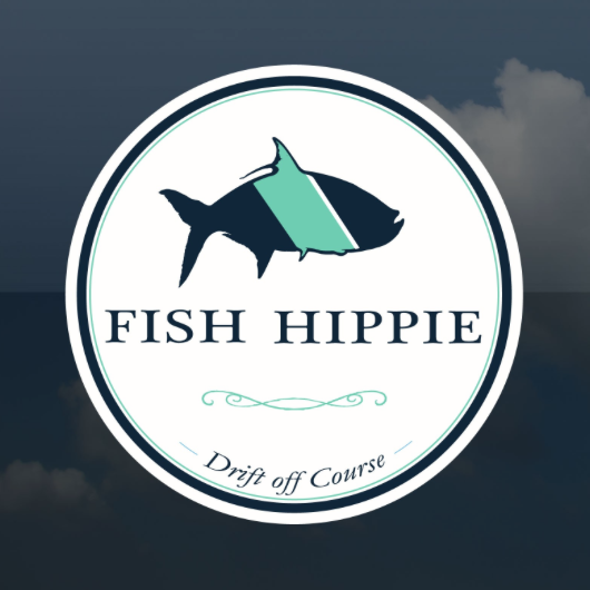 Fish Hippie All Weather Window Sticker
