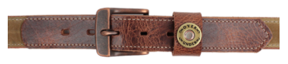 Over Under Waxed Canvas Belt - Tan