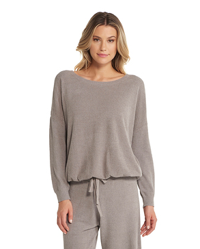 Barefoot Dreams Coxychic Ultra Lite Slouchy Pullover - Beach Rock