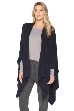 Barefoot Dreams Cozychic Ultra Lite Weekend Wrap - Black