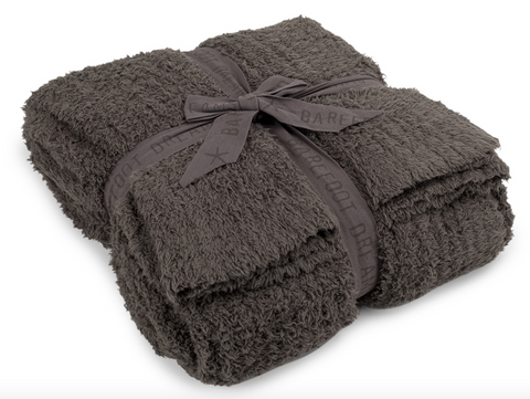 Barefoot Dreams CozyChic Ribbed Throw - Charcoal