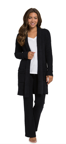 Barefoot Dreams CozyChic Lite Long Weekend Cardi - Black