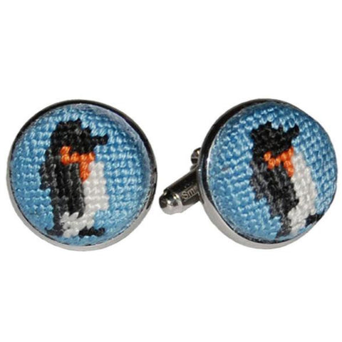 Smathers & Branson Penguin Cuff Links - Light Blue