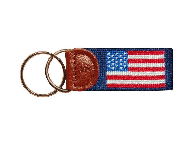 Smathers & Branson American Flag Key Fob - Navy