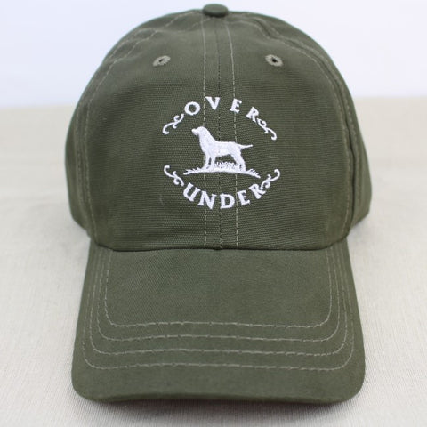 Over Under Brushed Canvas Hat - Forest Green
