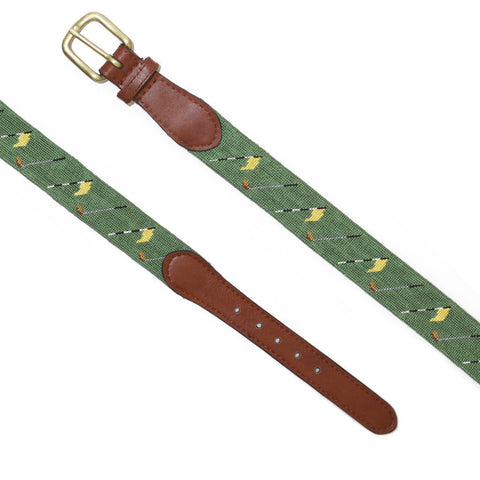 Smathers & Branson Golf Flags Belt - Sage