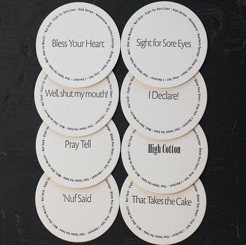 Ancesserie Southern Sayings Coasters - 8