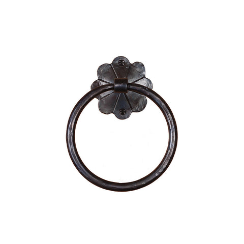 Daisy Wrought Iron Hand-Forged Iron Towel Ring - Dimestore Cowboys, Inc.