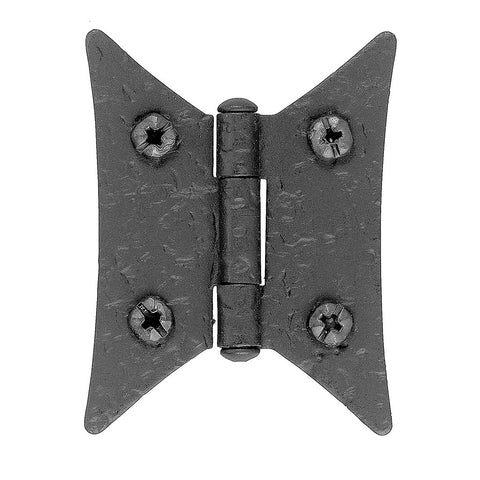 Butterfly Hinge Rough Iron For interior cabinet doors. - Dimestore Cowboys, Inc.