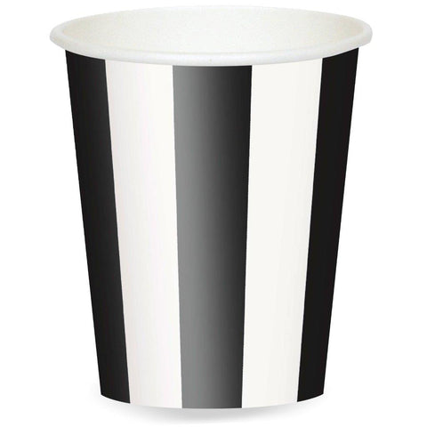 Black Stripe 12 oz. Paper Cups