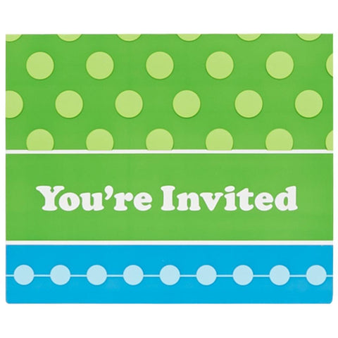 Blue and Green Invitations (8)