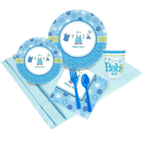 Baby Shower Boy Shower With Love Party Pack (8)