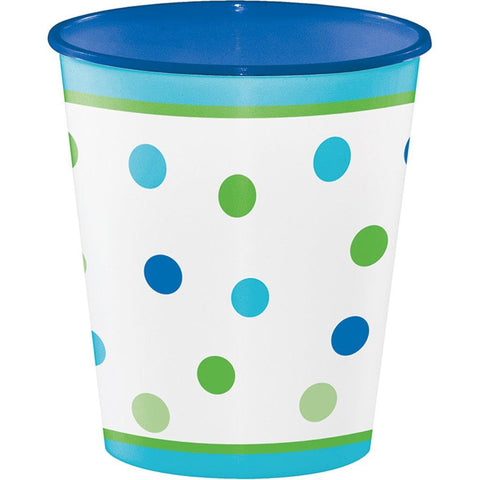 1st Birthday Boy Sweet Stripes 12oz. Plastic Cup