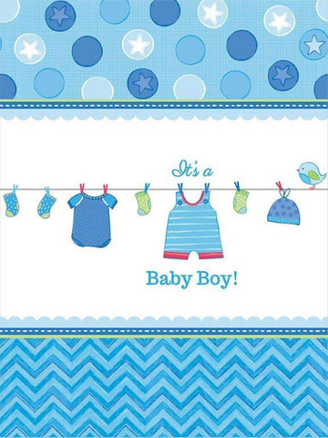Baby Shower Boy – Shower With Love Plastic Tablecover