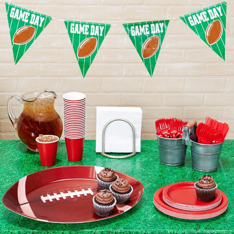 Football Tailgate Red and White Party Pack