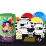 Graduation Party 16 Guest Party Pack and Helium Kit