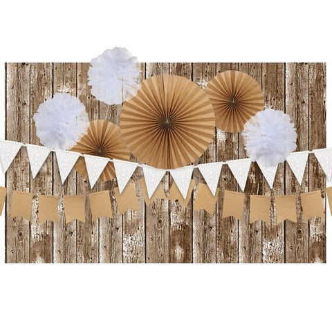 Rustic Backdrop Decoration Kit